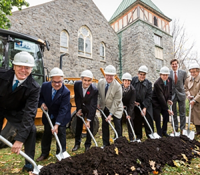 La Maison St-Raphaël tient son événement «Première pelletée de terre» et inaugure officiellement le début de ses travaux de construction