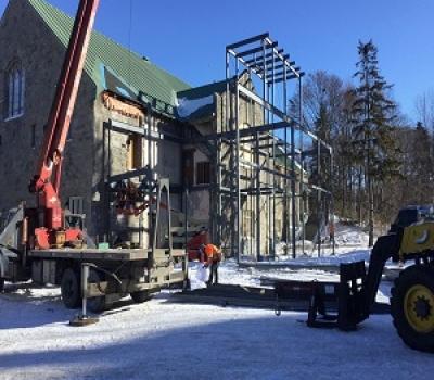 La construction va bon train en ce début d'année!